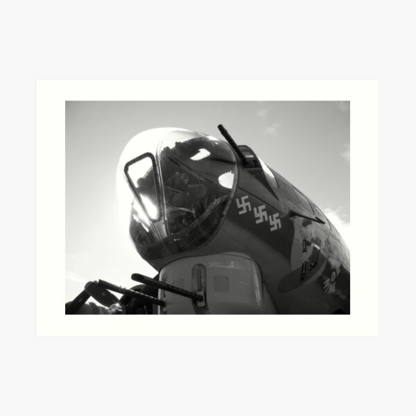 B17 Nose In The Air Black&White Art Print