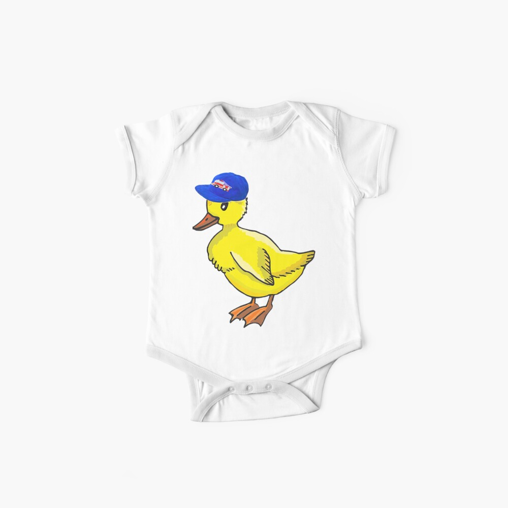 Fire Truck Duck Baby One-Pieces