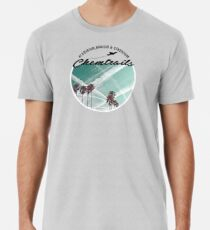 CHEMTRAILS, NOT SUCH PRETTY CLOUDS. Men's Premium T-Shirt