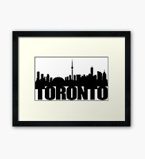 Toronto Skyline black Framed Print