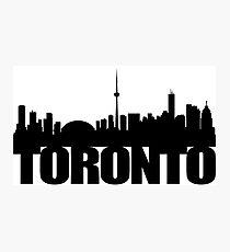 Toronto Skyline black Photographic Print