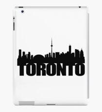 Toronto Skyline black iPad Case/Skin