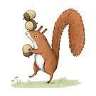 Eichhörnchen mit Eicheln von Sophie Corrigan