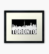 Toronto Skyline white Framed Print