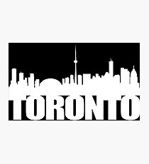 Toronto Skyline white Photographic Print