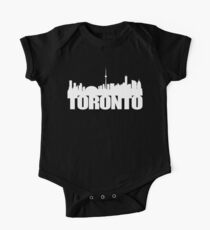 Toronto Skyline white Kids Clothes