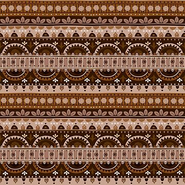 Tribal Pattern - Light Brown by Skullz23