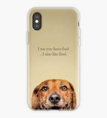 Funny and Hungry Rhodesian Ridgeback iPhone Case