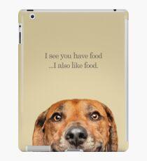 Funny and Hungry Rhodesian Ridgeback iPad Case/Skin