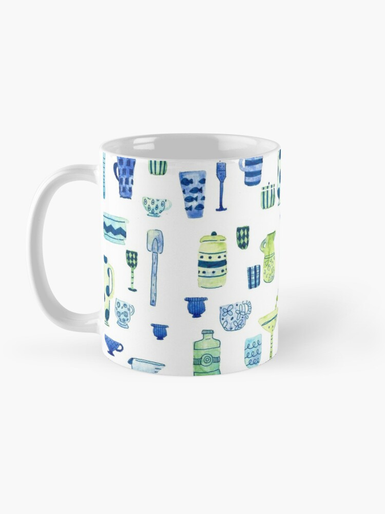 Alternate view of Hand Painted Watercolor Kitchen Pattern - Midcentury Mocktails Mug