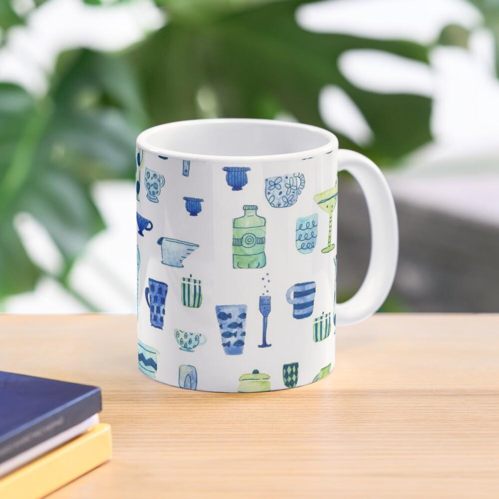 Hand Painted Watercolor Kitchen Pattern - Midcentury Mocktails Mug
