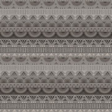 Tribal Pattern - Soft Gray by Skullz23