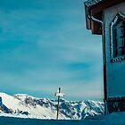 The little chapel on the summit of Matajur in a cold winter day by zakaz86