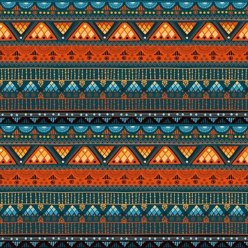 Tribal Pattern - Orange Triangle by Skullz23