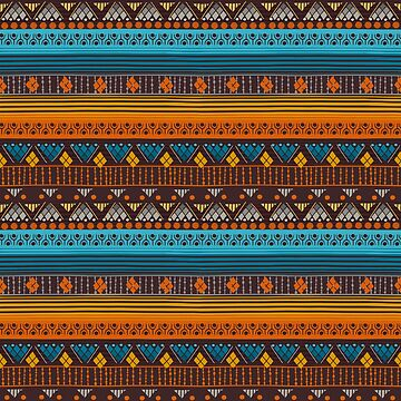 Tribal Pattern - Yellow Lines by Skullz23