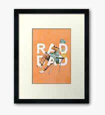Rad Dad Framed Print