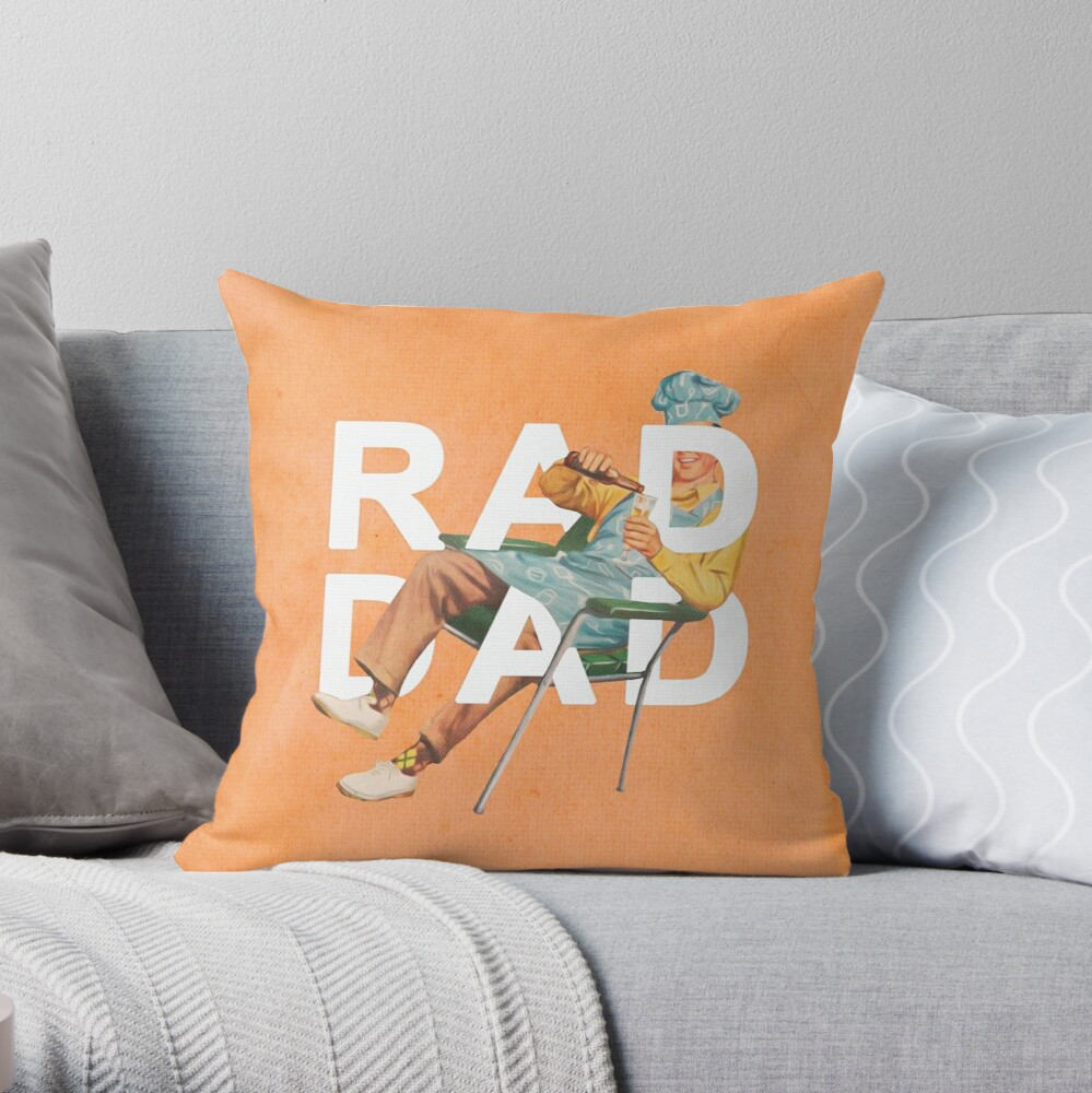 Rad Dad Throw Pillow