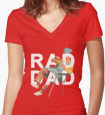 Rad Dad Women's Fitted V-Neck T-Shirt