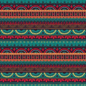 Tribal Pattern - Mexican Blue by Skullz23