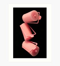 Pink Curlers Art Print