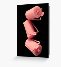 Pink Curlers Greeting Card