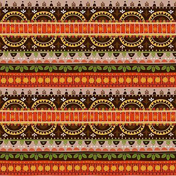 Tribal Pattern - Indian Summer by Skullz23