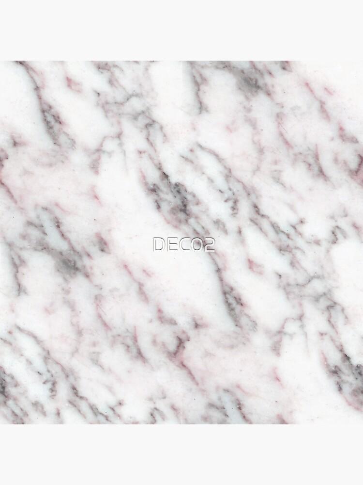 Soft Pink und Charcoal Venen auf Schlagsahne Marmor von DEC02