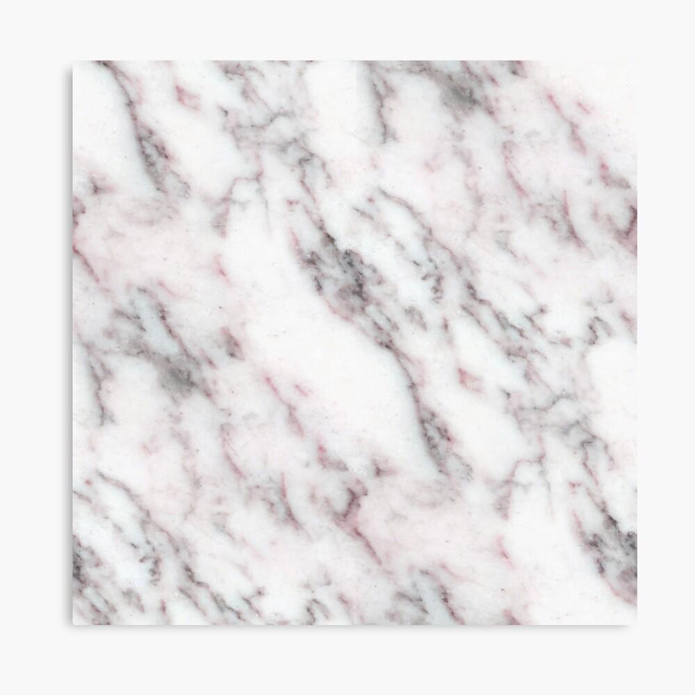 Soft Pink und Charcoal Venen auf Schlagsahne Marmor Leinwanddruck