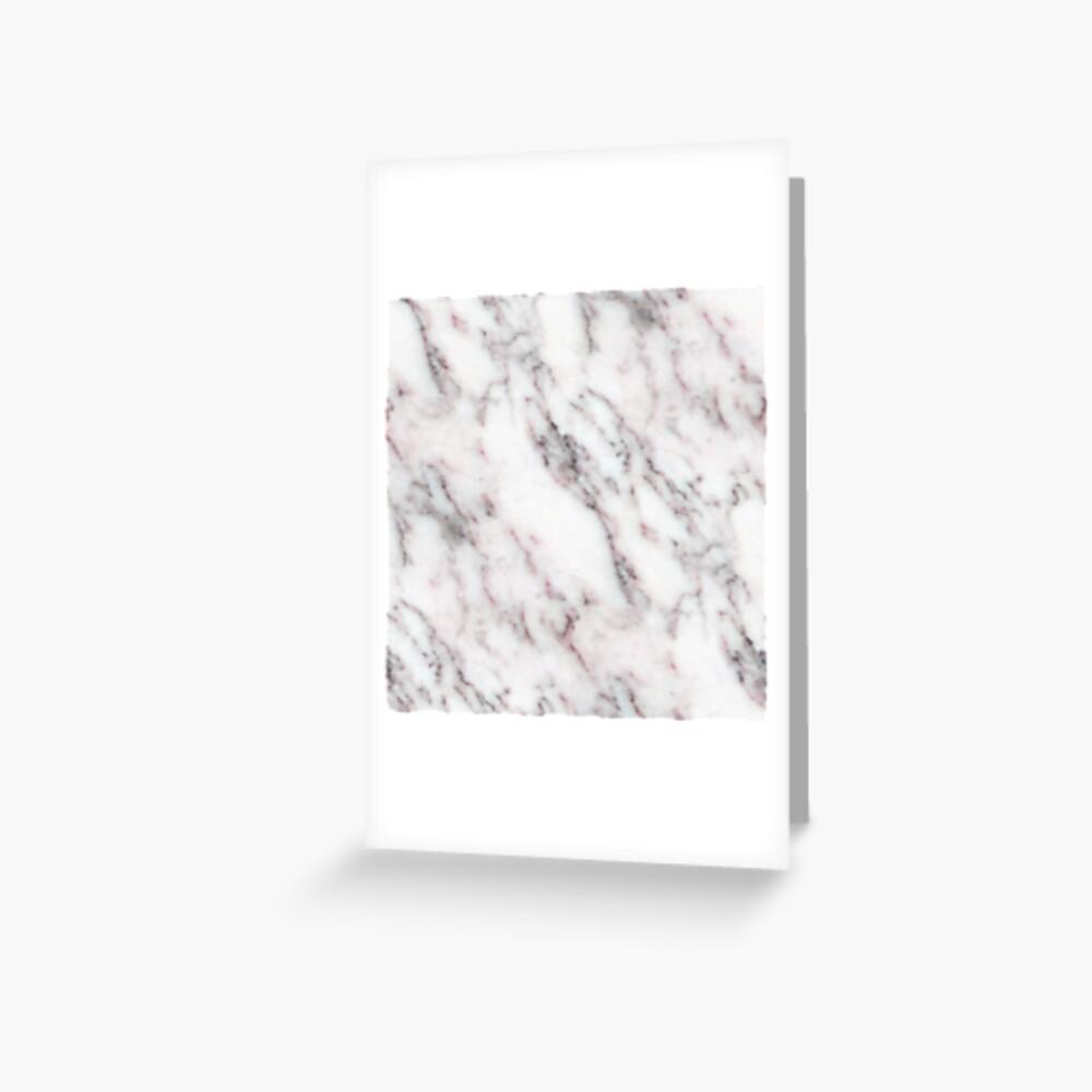 Soft Pink und Charcoal Venen auf Schlagsahne Marmor Grußkarte