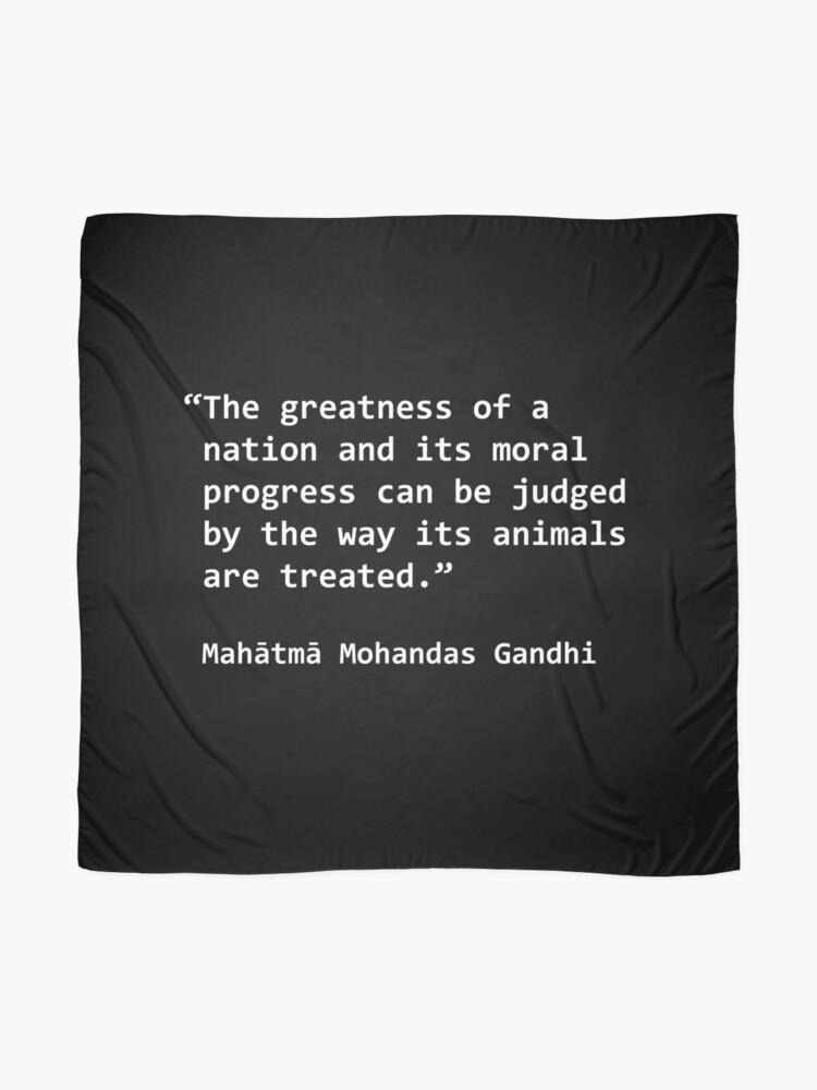 Vegane Zitate Gandhi 3 Tuch