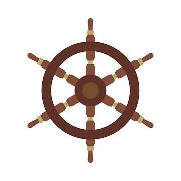 Brown Ship wheel by Sketchbrooke