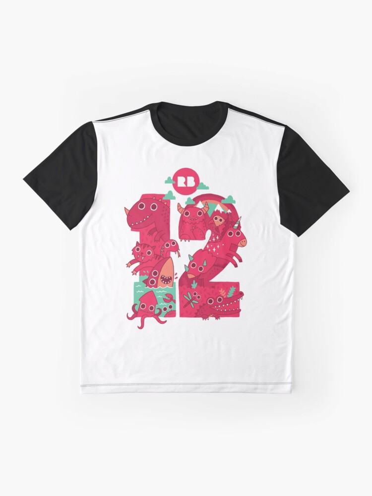 Alternate view of Redbubble's 12th Birthday Graphic T-Shirt