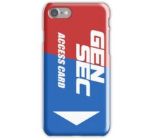 Payday 2 GenSec Keycard iPhone Case/Skin
