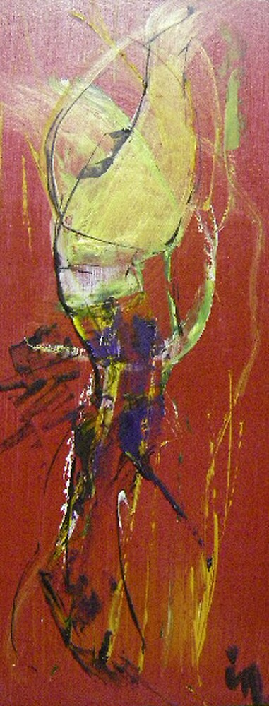 red abstract 1 by Isabelle Nivet