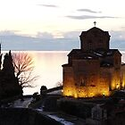 the iconic view in Ohrid by distracted