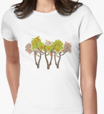 Orange trees Women's Fitted T-Shirt