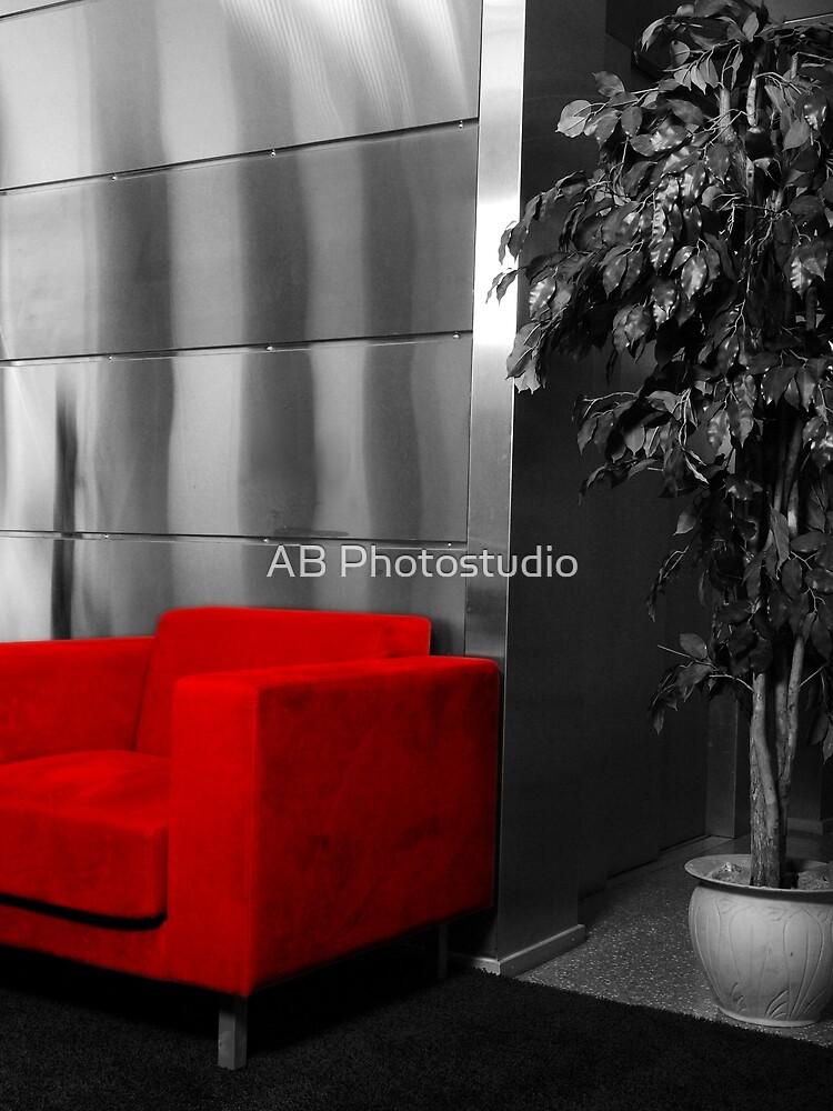 Red chair by Arve Bettum