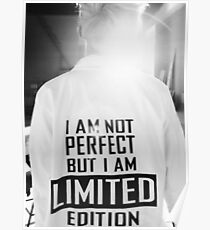 Rap Monster I AM NOT PERFECT BUT I AM LIMITED EDITION Poster
