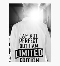 Rap Monster I AM NOT PERFECT BUT I AM LIMITED EDITION Photographic Print