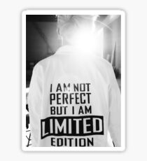 Rap Monster I AM NOT PERFECT BUT I AM LIMITED EDITION Sticker