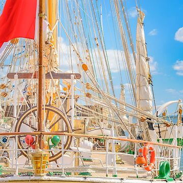 Sailing Ship Naval School Parked at Port by DFLCreative