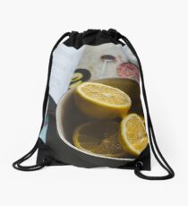 what's for lunch? Drawstring Bag
