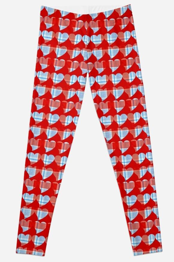 Retro Plaid hearts by BubbSnugg LC