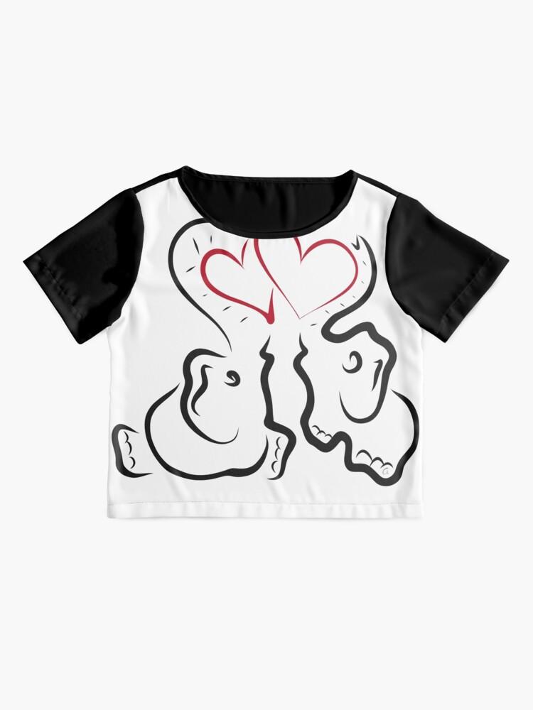Vista alternativa de Blusa Amor elefante 2