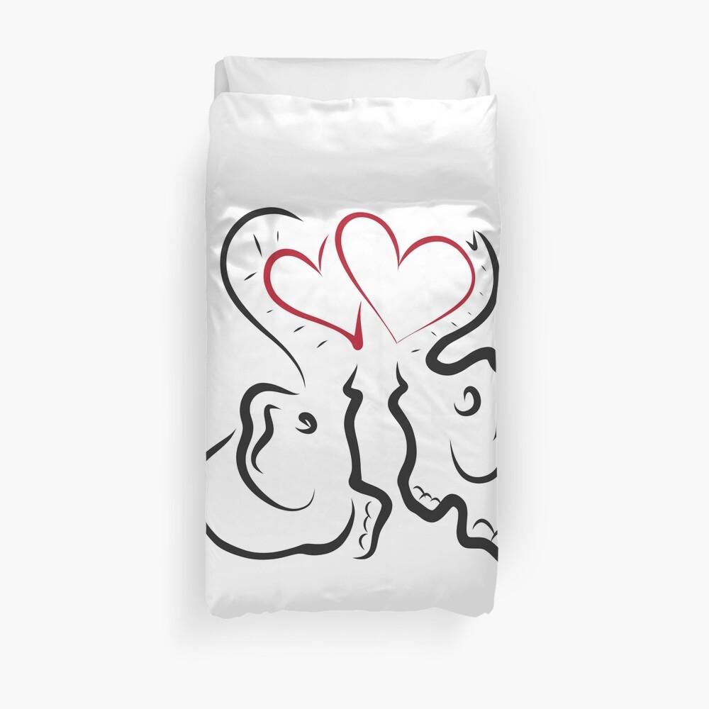 Amor elefante 2 Funda nórdica