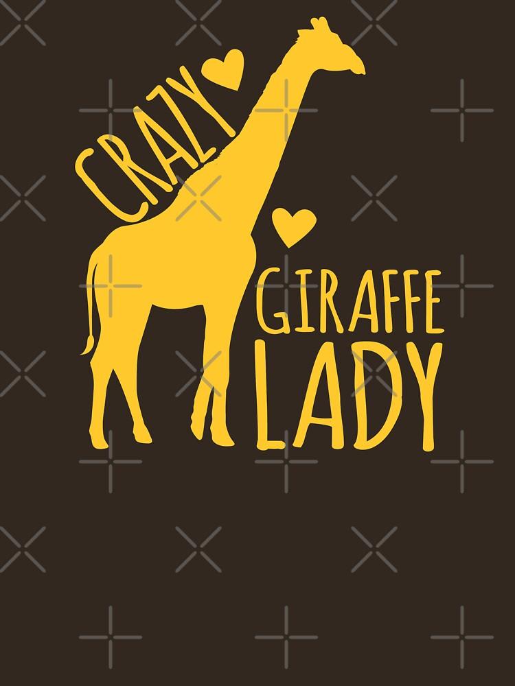 CRAZY Giraffe Lady  | Women's T-Shirt