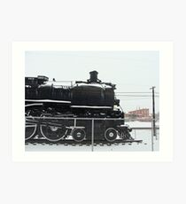 old train engine Art Print