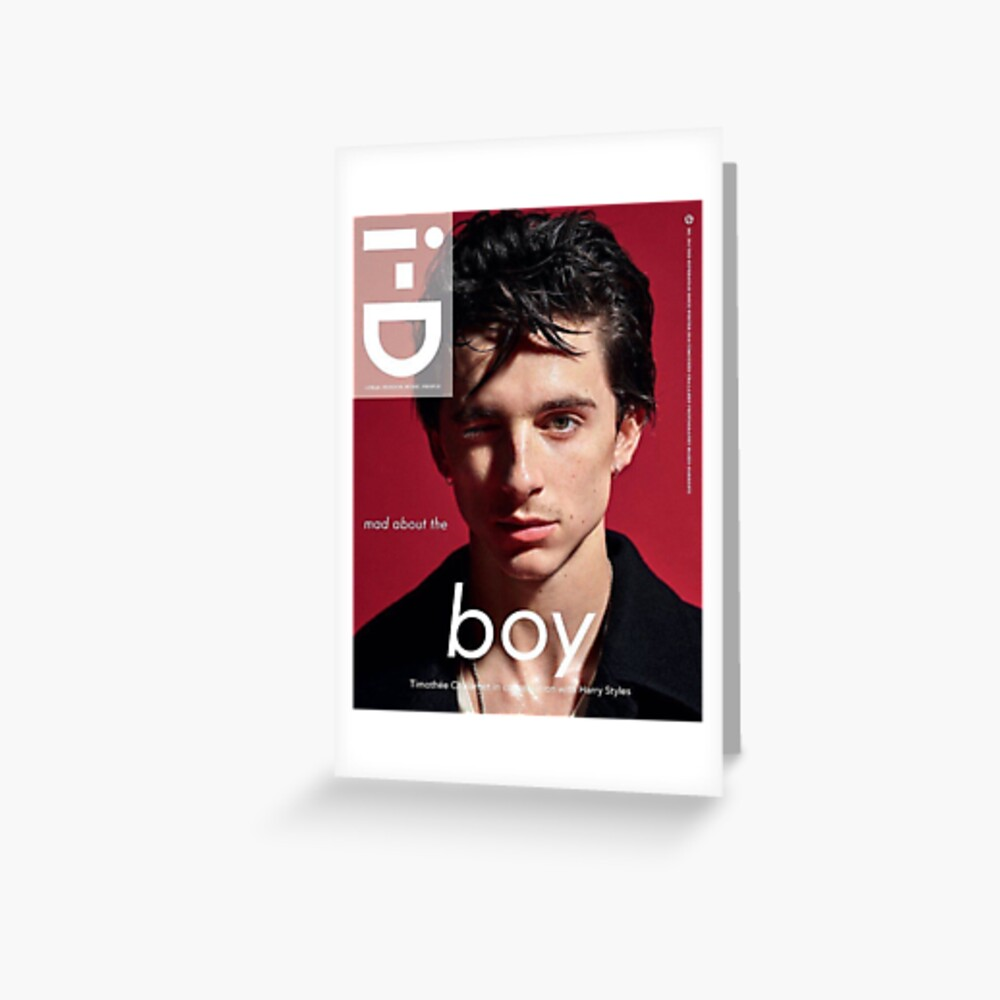 """timothee Chalamet"" Greeting Card By Lilyella"