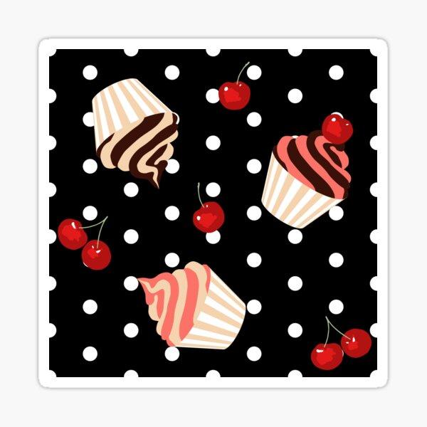 Rockabilly Cherry Cupcakes Sticker