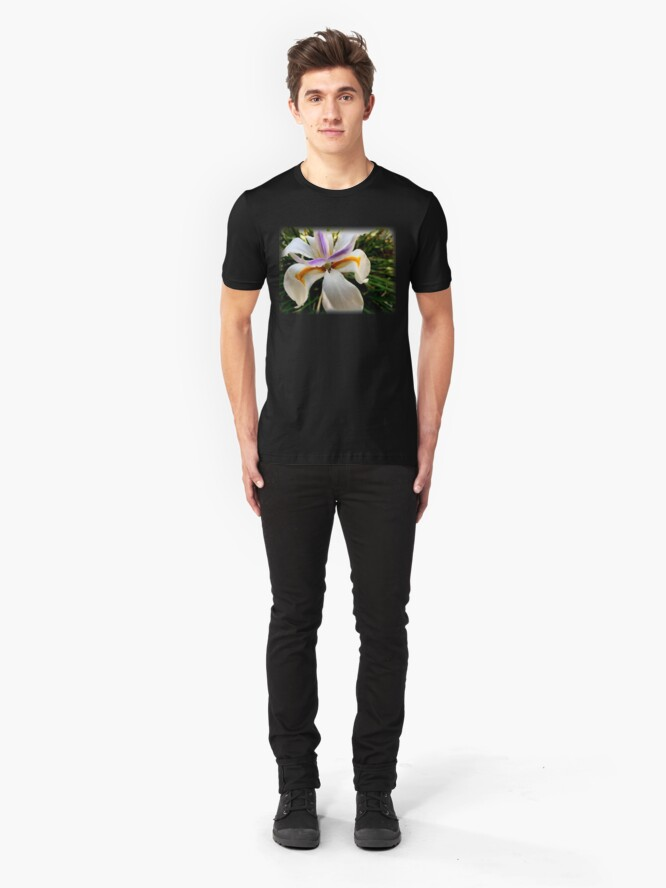 Alternate view of Fortnight Lily (Dietes) from A Gardener's Notebook Slim Fit T-Shirt